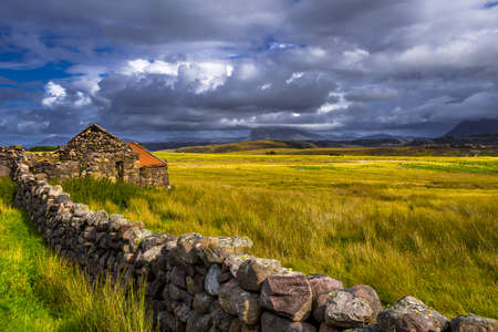 Lonesome Farmhouse At The Village Brae Of Achnahaird Near Achnahaird Beach in Scotland