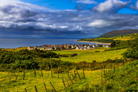 Picturesque Village Of Helmsdale At The Atlantic Coast In Scotland Banque d'images