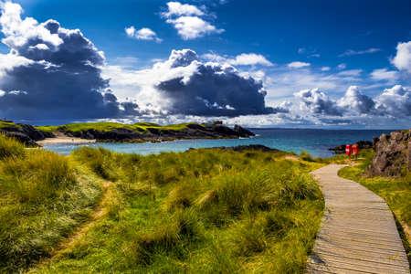 Spectacular Sandy Clachtoll Beach And Atlantic Coast Near Lochinver In Scotland