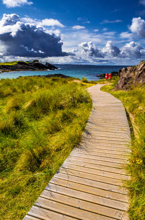 Spectacular Sandy Clachtoll Beach And Atlantic Coast Near Lochinver In Scotland