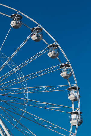 White Ferris Wheel In Brno In The Czech Republic