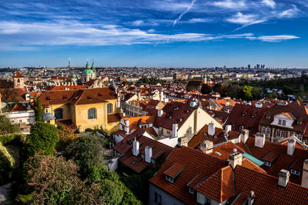 Panorama View From Hradcany Castle Over The City Prague In The Czech Republic