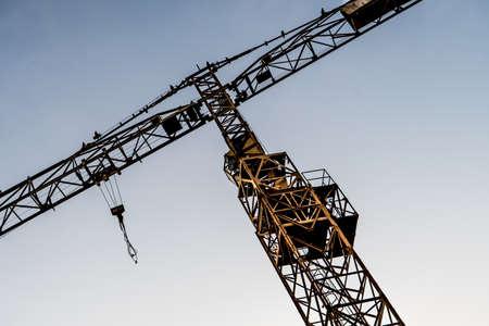 Detail Of Yellow Construction Crane