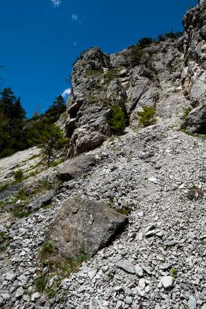 Steep Wall Of Rock In Ötschergräben In Austria