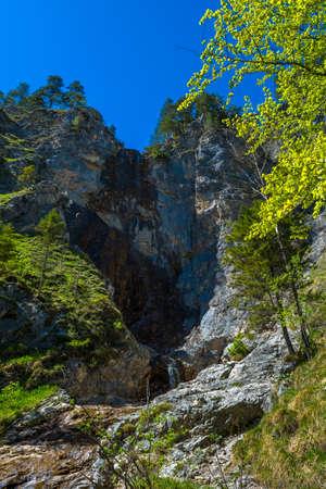 HIgh Waterfall In Ötschergräben In Austria Banco de Imagens