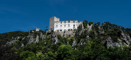 Castle Ruin Burgruine Rauhenstein In The City Of Baden Near Vienna In Austria