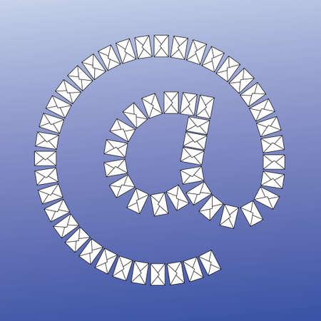 An email symbol Illustration made of envelope Illusztráció