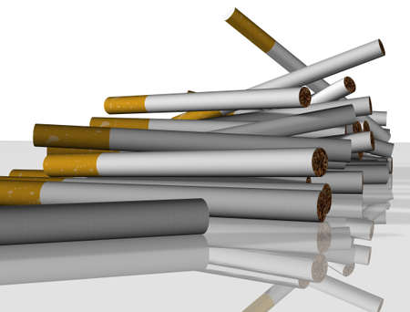 A load of cigarettes falling toward the viewer Stock Photo - 2658517