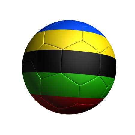 soccer ball with based on sports competition color colored stripe