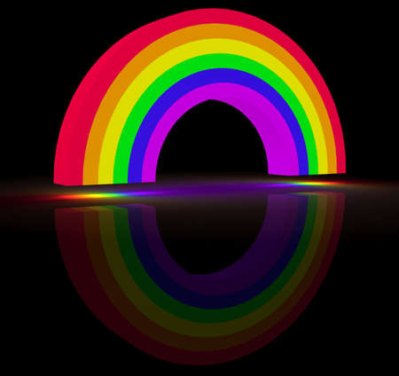 3d rendering of a rainbow, gay symbol concept