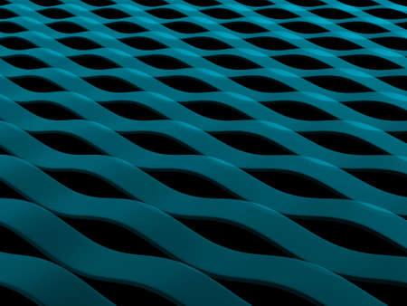 抽象的な青い波パターンの 3 d レンダリング 写真素材