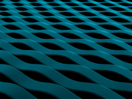 render: 3d render of abstract blue wave pattern