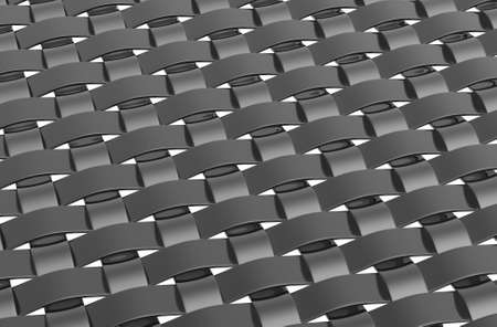 reflective: 3d render of a metallic reflective weave pattern Stock Photo
