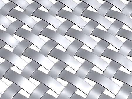 メタリック グレーの 3 d レンダリング織りパターン、角度、ビュー 写真素材 - 3565069