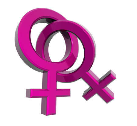 two venus rings together, symbol of lesbian relationship