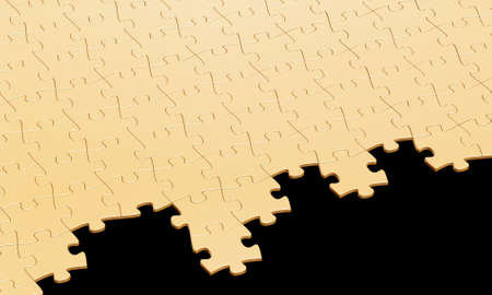 3d rendering of a puzzle with missing pieces