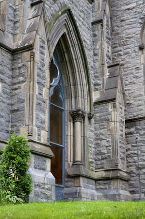 side view of a old gothic church window