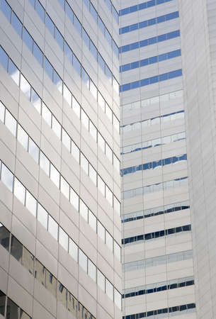a modern grey building in downtown montreal Stock Photo