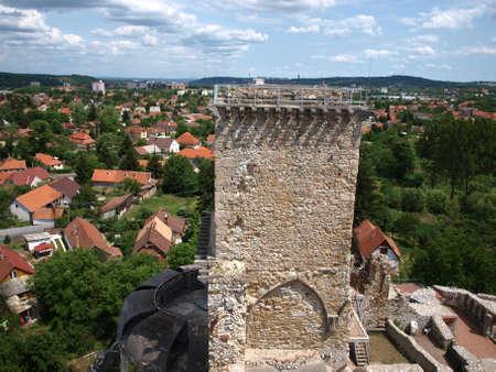 Tower of castle in Miskolc