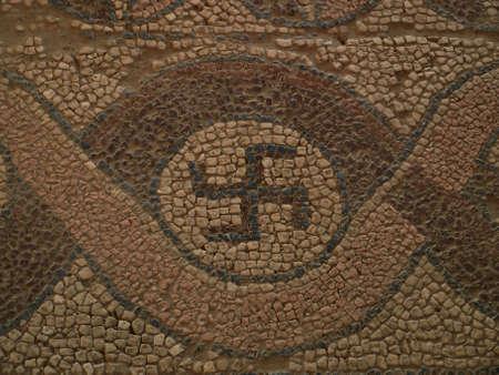 Sfastika from Ohrid monastery Stock Photo