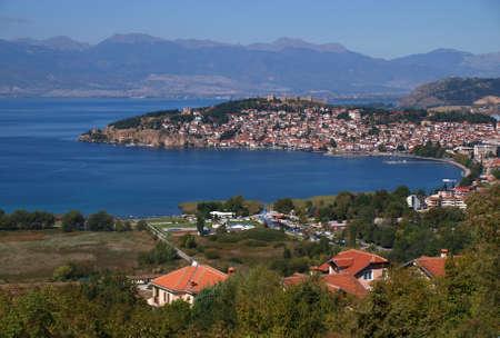 Ciudad y el lago Ohrid