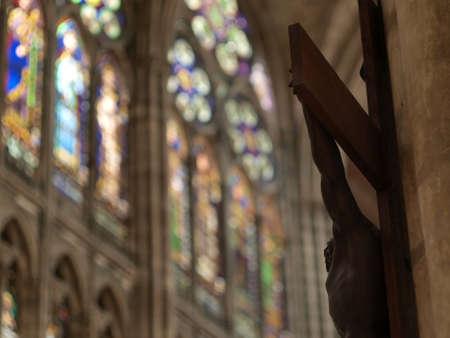 Cross in Saint Denis church