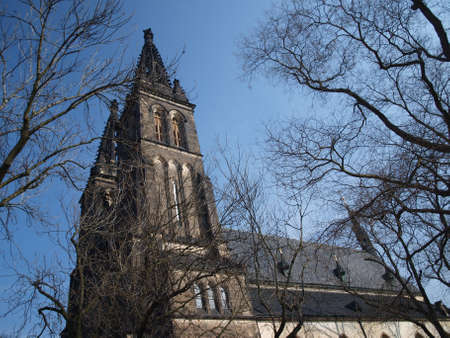 Peter and Paul cathedral in Vysehrad Prague
