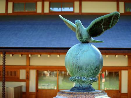 Statue of dove of peace
