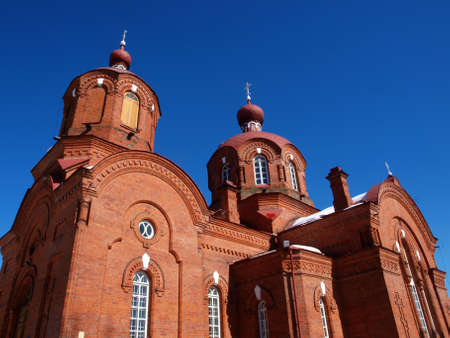 Antigua iglesia ortodoxa en Bialowieza Polonia Podlasie