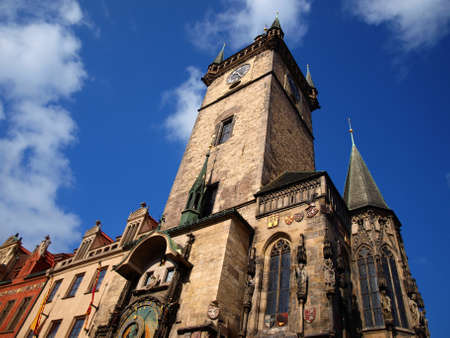 Gothic town hall from Prague photo