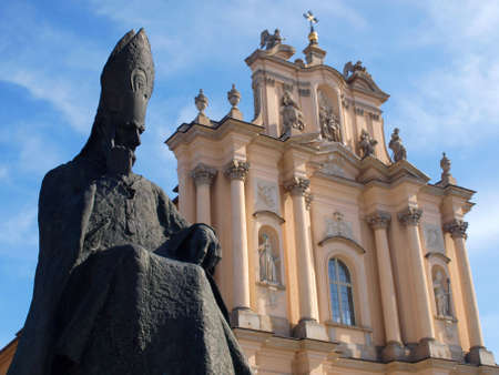 primate: Primate Wyszynski monument and visitationist church in Warsaw