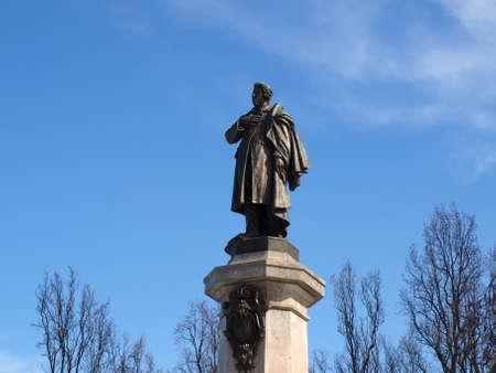 Monumento de Mickiewicz en Varsovia Foto de archivo