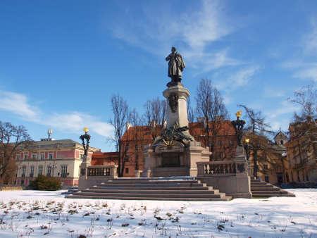 mickiewicz: Mickiewicz monument from Warsaw
