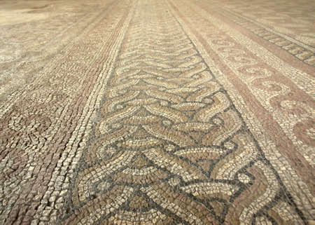 Old roman mosaic from Constanca in Romania Stock Photo