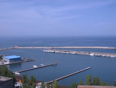 Port in Constanca city, Romania