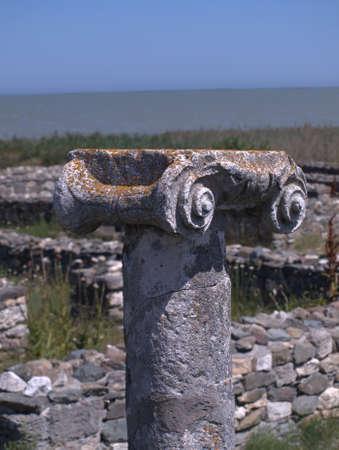 Ancient column from Histria in Romania