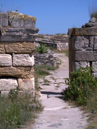 Ancient gate of Histria in Romania