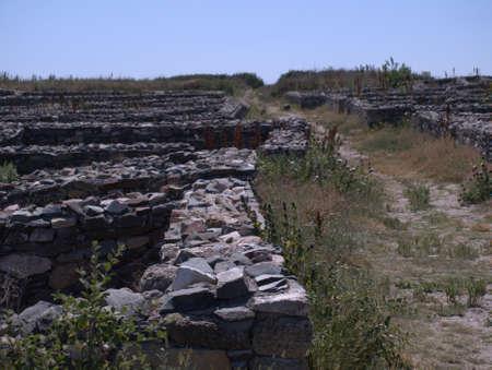 Ancient city Histria in Romania