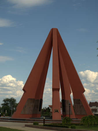 Monument of second world war from Chisinau Romania Editorial