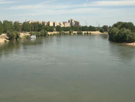 Dniestr river near Tiraspol Stock Photo