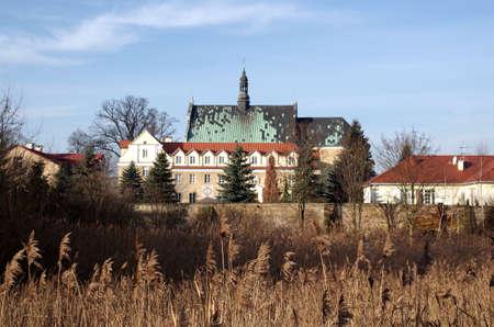 Baroque salesians monastery in Lutomiersk in   lodzkie province