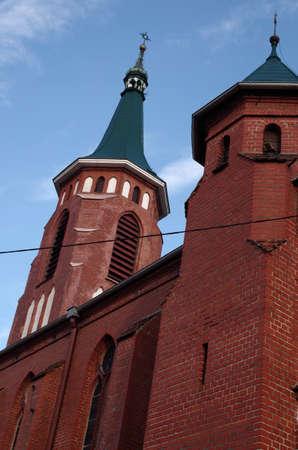 Nuestra Se�ora del Rosario de la iglesia neog�tica en Kazimierz nad Nerem Foto de archivo