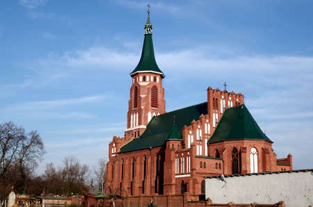 Our Lady of Rosary neogothic church in Kazimierz nad Nerem