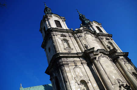 Church and monastery in Jedrzejow Stock Photo