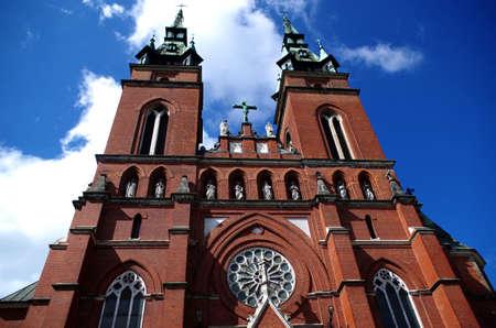 Neogothic church in Kielce Stock Photo