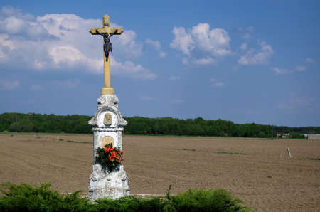 Cross at the country Stock Photo