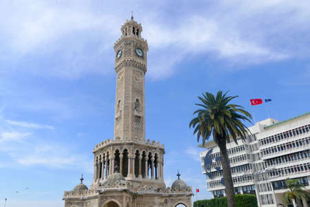 Clock tower in Arabic style in the center of Izmir. It is one of the most famous and distinctive points of the city.