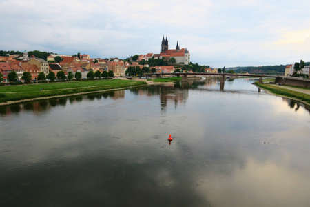 The Gothic cathedral of Meissen - built several hundred years ago since the Middle Ages is a characteristic element of the city attracts tourists. Visible from afar creates a beautiful panorama with a castle and a river. Editorial