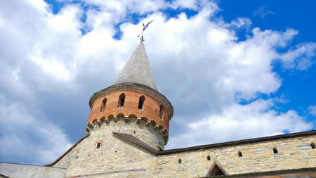 dome of the rock: Kamieniec Podolski - an old medieval town full of monuments - castles of towers of the walls. It is an important tourist resort known in Poland and Ukraine especially by the famous castle. Stock Photo