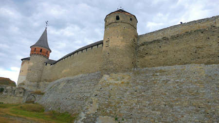 Kamieniec Podolski - an old medieval town full of monuments - castles of towers of the walls. It is an important tourist resort known in Poland and Ukraine especially by the famous castle. Stock Photo